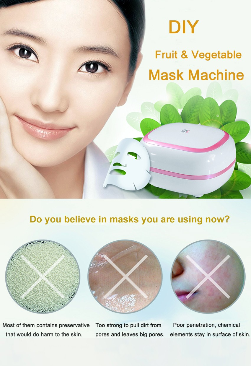 DIY Fruit Facial Mask Machine Maker Vegetable Skin Care Tool Moisturizing Whitening 10