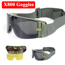 X800 Tactical Paintball War Games Shooting Protection Glasses Outdoor Hunting Airsoft Goggles Military Army