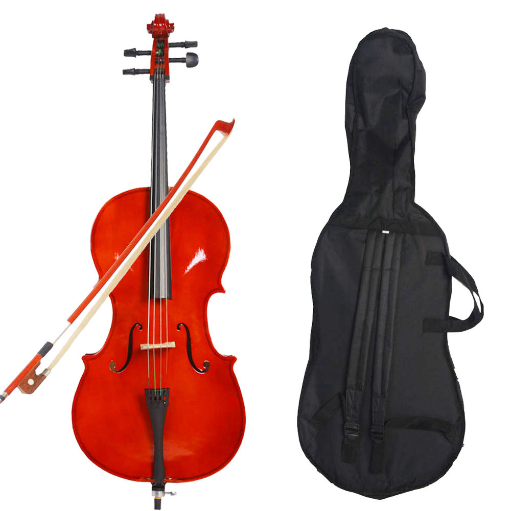 Professional Size 1/4 Acoustic Cello+Bag Bow Rosin Fit For 6-8 Years Old Kids