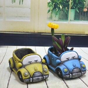Image 4 - ซิลิโคนคอนกรีตแม่พิมพ์การ์ตูนรถอีพ็อกซี่เรซิ่นกระถางดอกไม้แม่พิมพ์ Handmade CRAFT ซีเมนต์ Planter เครื่องมือ