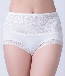 white nice and hot bamboo fiber woman panties with lace 10pcs/bag Free shipping