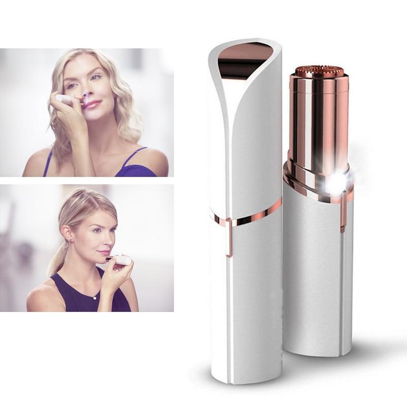 TOHUAN Tragbare Elektrische Frauen Haarentferner Rasierer Epilierer Schmerzlos Lippenstift Rasierer Mode Epilierer Körper Gesichts Haar Entfernung