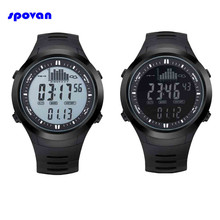 3ATM pesca Barómetro Reloj Impermeable Termómetro Altímetro Hombres Militar Deportes Relojes Digitales Horas Spovan SPV709 2017 Nuevo