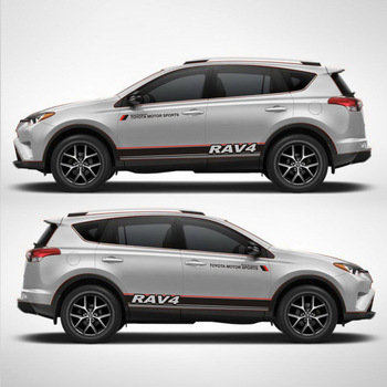 TAIYAO car styling sport sticker For Toyota 2013-2018 RAV4 Hybrid Sapphire accessories and decals auto