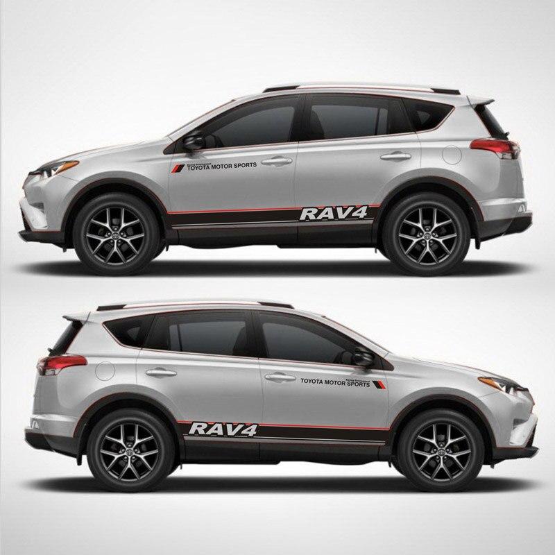 TAIYAO style de voiture sport autocollant de voiture Pour Toyota 2013-2018 RAV4 Hybride Saphir accessoires de voiture et décalques autocollant pour voiture