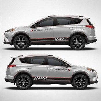 Taiyao Тюнинг автомобилей спортивный автомобиль Наклейка для Toyota 2013-2018 RAV4 Гибридный сапфир автомобильные аксессуары и отличительные знаки ав...