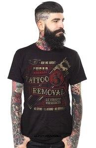 Męska koszulka Kustom Kreeps tanie usuwanie tatuażu czarna śmieszna koszulka nowatorski tshirt dla kobiet
