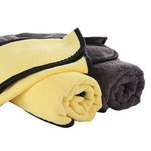 Image 3 - Toalha de secagem super absorvente do tamanho 92*56 cm do pano de secagem da limpeza do carro da toalha de microfibra da lavagem de carro