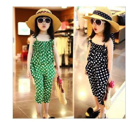 FREE SHIPPING/2013 children's clothing tops with narrow straps and Haroun pants,casual sport suits
