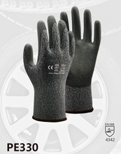 Cut Resistance Work Gloves Resistant  Safety HPPE With PU Dipped Anti