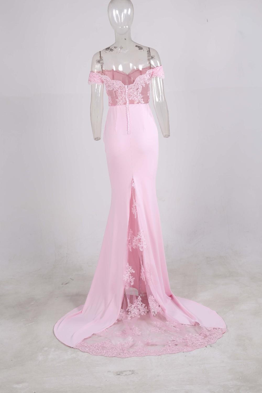 فستان سهرة  Missord جذاب مع ذيل وذو تصميم مميز 21