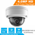 New Arrival HiK 4.0 MP CMOS Network Dome Camera DS-2CD1141-I Fixed Lens IP Camera