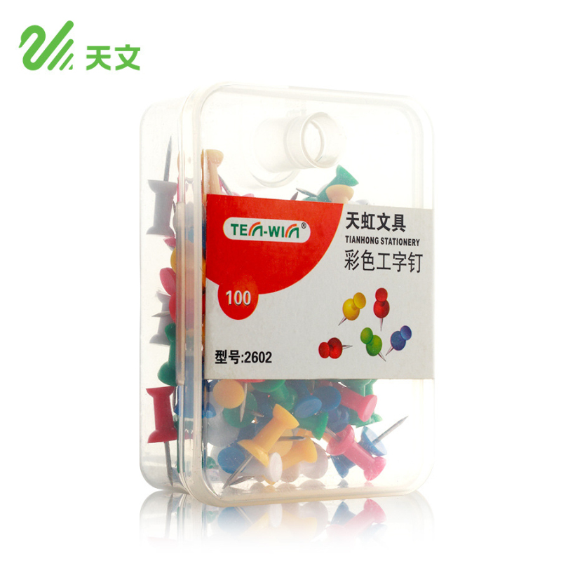 100 Pcs/lot Colored Art Nails Thumb Tacks Push Pin Drawing Map Pins Cork Board Pins Stationery Office School Supplies