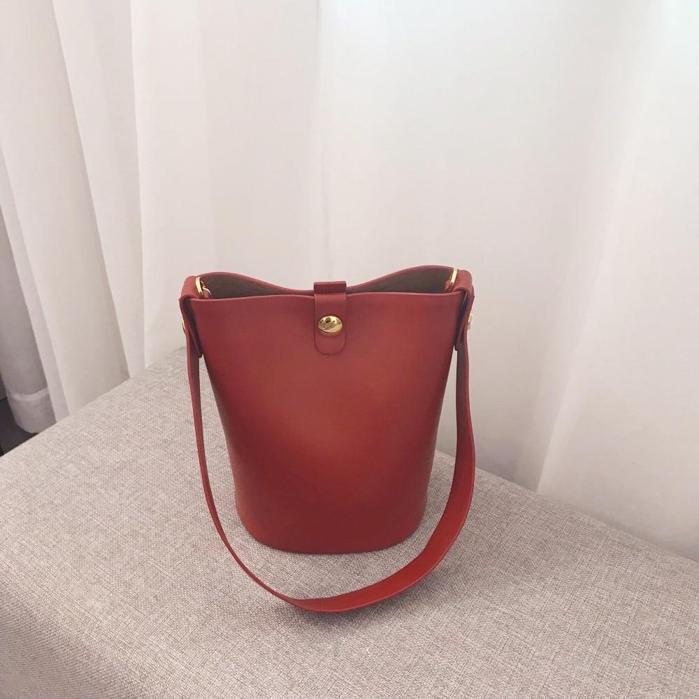 Kafunila genuine leather bucket bag for women 2018 luxury handbags women bags designer famous brand crossbody bag bolsa feminina