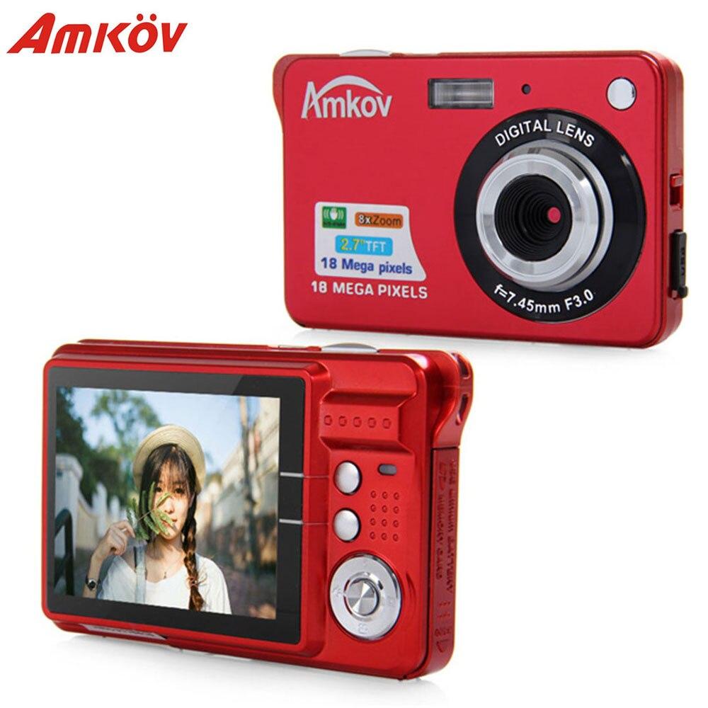 Original Amkov CDC3 2,7 pulgadas TFT pantalla 1080 p 18MP CMOS 3MP Anti-Shake Digital Video cámara detección de la cara con 8X Zoom Digital