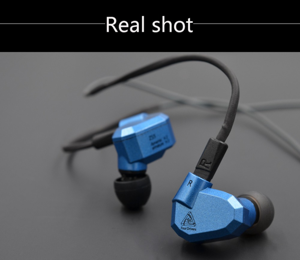Original KZ ZS5 2DD 2BA Hybrid In Ear Earphone HIFI DJ Monito Running Sport Earphone Earplug Headset Earbud KZ ZST ATE kz ates ate atr hd9 copper driver hifi sport headphones in ear earphone for running with microphone game headset