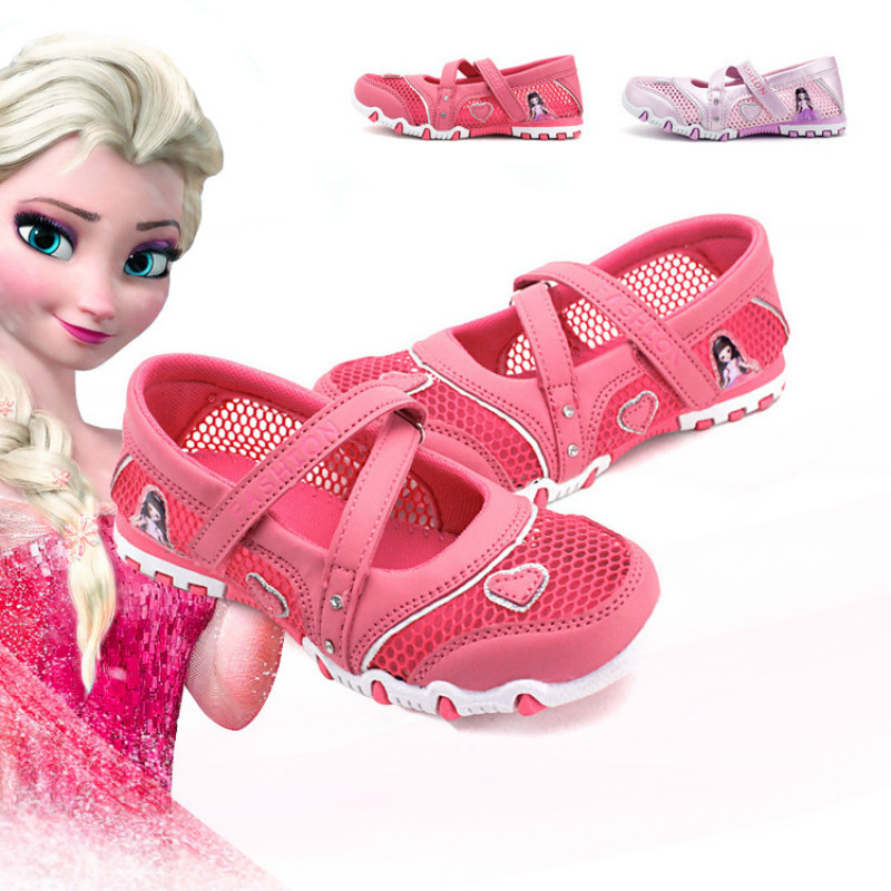 2017 cartoon Elsa princess shoes girls sandals children s sneakers running shoes breathable girls sports shoes