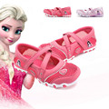 2017 cartoon Elsa princess shoes  girls sandals children's sneakers  running shoes breathable girls sports shoes straps non-slip