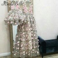 modabelle 3D Flowers Evening Dress Robe De Soiree Dubai A line 2019 Long Mother And Daughter Party Dress Formal Avondjurken