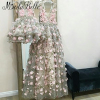 modabelle 3D Flowers Evening Dress Robe De Soiree Dubai A line 2019 Long Mother And Daughter Party Dress Formal Avondjurken