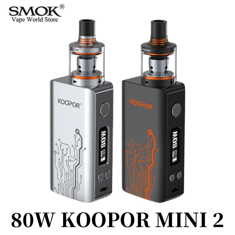 SMOK KOOPOR MINI2 Vape Kit Electronique Cigarro Caixa Mod Com 510 Bobina Tanque 80 W Cigarro Eletrônico VS Alienígenas S3068