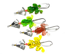 8pcs 9cm 6.2g spinner spoon Rubber Frog Soft Fishing Lures Bass CrankBait wobble trout fishing baits pesca fishing tackles