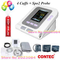 CE Digital Blood Pressure Monitor 08A+Infant Pediatrics/Child/Adult Cuffs+SP02 contec