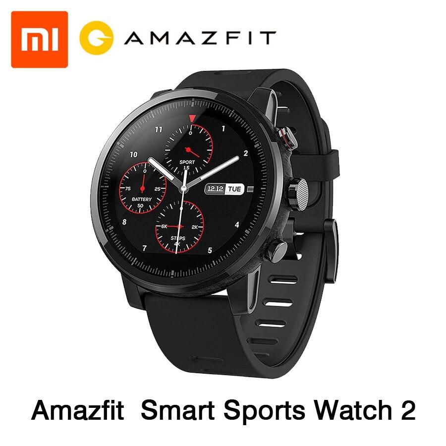 [Английская версия] Xiaomi Huami Amazfit Stratos смарт спортивные часы 2 gps 5ATM воды 1,34 ''2.5D Экран компании Firstbeat часы для плавания