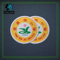 Custom iron on clothing woven badges on a pin customized embroidered patches for backpack Acrylic rosette sewing fabric sign