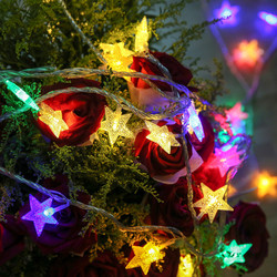 CHASANWAN 3 M 20 Lamp LED Star Battery Box Light String New Year New Year's Ornaments Christmas Decorations for Home Navidad.q 3