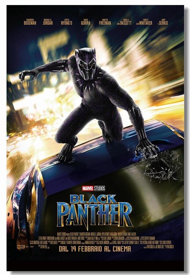Custom Canvas Art Black Panther Marvel Wallpaper Superhero ...
