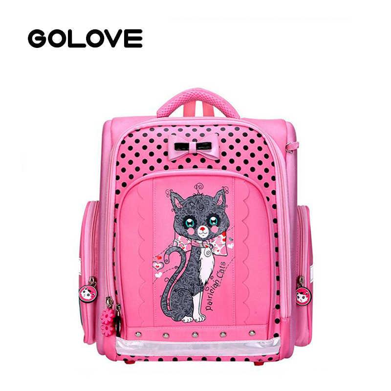 Милые школьные сумки с принтом кота из мультфильма, Детский рюкзак, детский ортопедический школьный рюкзак для девочек, Розовый водонепроницаемый рюкзак Mochila Escolar 2019
