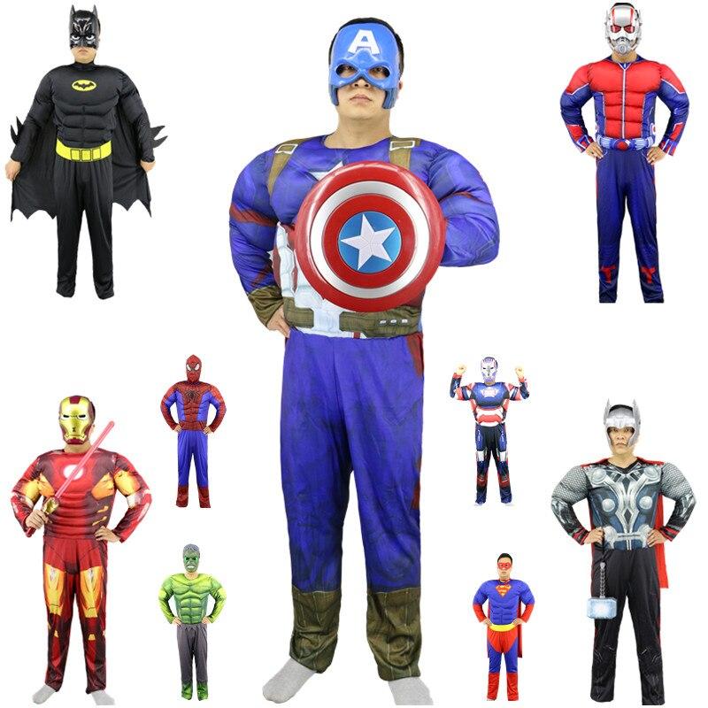 Halloween Men s Deadpool Costume Masquerade Red Death Purim Muscle Jumpsuit Cosplay Halloween Costume Deadpool Suit