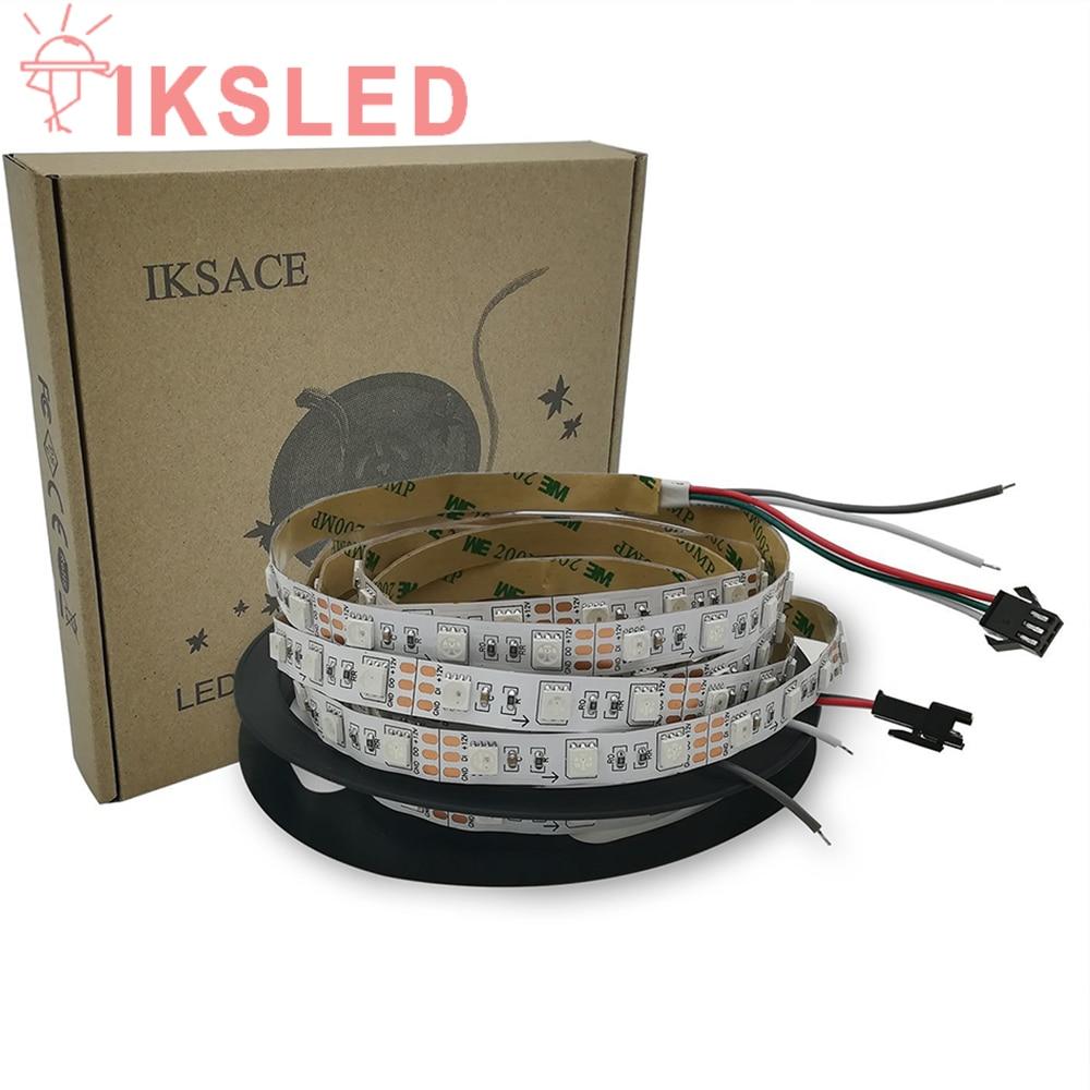 WS2812 KIT+adapter+controller 12V 300Pixels WS2812B 3LED Addressable LED Strip Light built in LED 5050 RGB Led Dream Color good group diy kit led display include p8 smd3in1 30pcs led modules 1 pcs rgb led controller 4 pcs led power supply