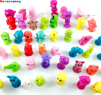 50/100Pcs/lot Cartoon Animal Action Toy Stikeez Cupule Kids Toys Cup Collector Capsule Model Children Gifts