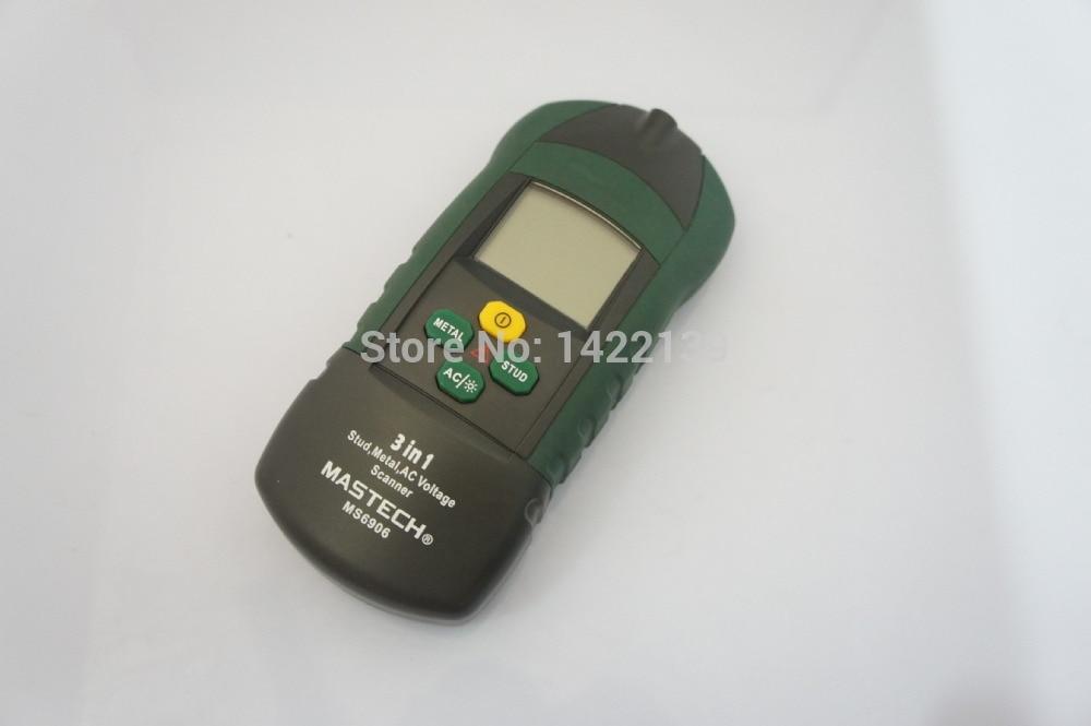 Détecteur multifonctionnel MASTECH MS6906 3in1, goujon 3-en-1 + testeur de Scanner de tension métal + ca