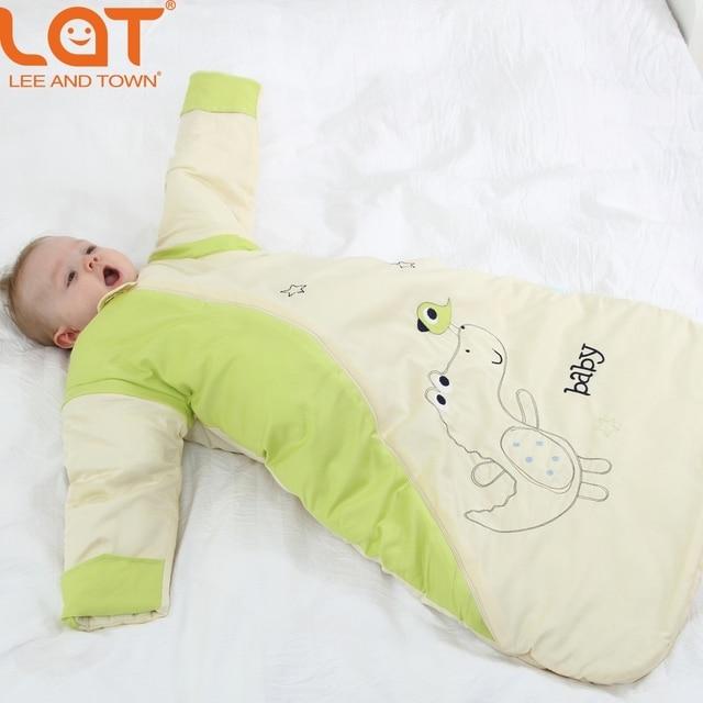 LAT Малыш 80 см Длина Зима Теплая Спальный Мешок SleepSack пеленать Толщина Обернуть Постельных Принадлежностей 2.5 Tog для 0-3 Лет унисекс