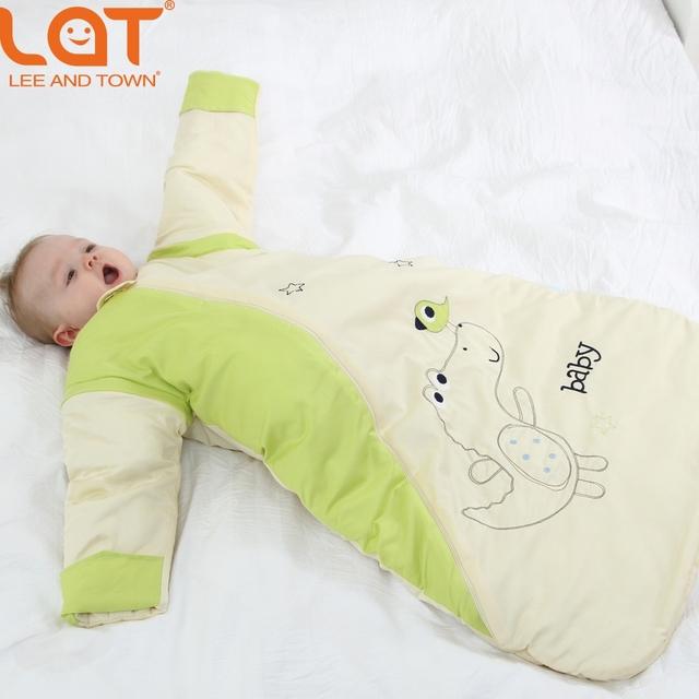 LAT Da Criança Do Bebê 80 cm de Comprimento Inverno Quente Saco de Dormir SleepSack Espessura Swaddle Envoltório jogo do Fundamento 2.5 Tog para 0-3 Anos Unisex