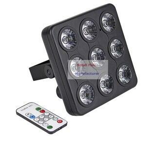 Image 2 - 4 pièces/lot DMX/IR télécommande LED spectacle panneau 9X4W RGBW 4IN1 luxe DMX 8 canaux LED plat Par lumière 90 240V livraison gratuite