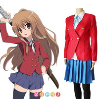 Livraison Gratuite Personnalisé Japonais Anime TIGRE DRAGON Cosplay Aisaka Taiga/Kawashima Costume Dress Costume School Girl Uniforme Nouveau