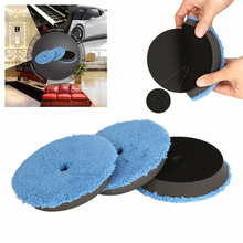 6″ Disc Detailing Waxing Bonnets Mitts Polishing pads Automotive Tools Cleaning Plush Microfiber 3pcs Supplies