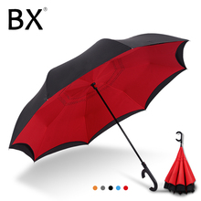 Bachon reverse windproof umbrella large auto close double-layer inverted female male car men women