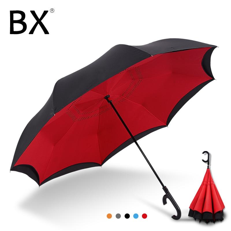 Bachon reverse windproof umbrella large umbrella auto close double layer inverted umbrella female male car umbrella