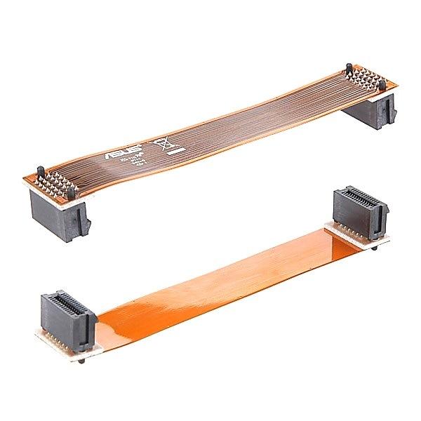 "2 stücke PCI E Video Karte Kabel Stecker Scalable Link Interface 7 ""12 cm PCI E Kabel Flexible SLI Brücke Für ASUS NVidia-in Computerkabel & Stecker aus Computer und Büro bei title="