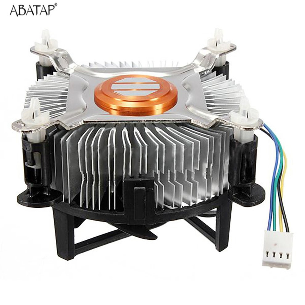 цена на High Quality Aluminum Material CPU Cooling Fan Intel CPU Cooler For Computer PC Quiet Silent Cooling Fan For 775/1155/1156