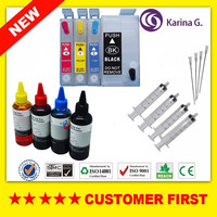 1Set Refillable Ink Cartridges And 4 100ml Dye Ink For T2521 For EPSON WorkForce WF 3620