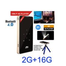 H96-P dlp mini projecteur 2G 16G amlogic S905 4 K 2.4G 5.8G Wifi BT4.0 Home cinéma android projecteur de poche h96-p proyector
