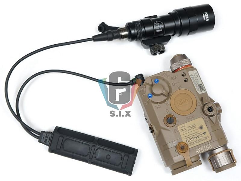 Remoto tático softair duplo 2 plug pressão