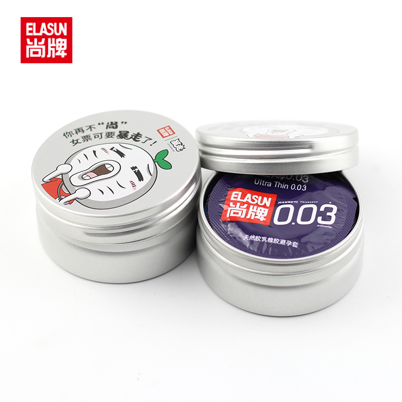 Elasun 20 PCS With Two Beautiful Aluminum Bank.  0.03 Mm Platinum Ultra-thin Condom Ultra Thin Condom, Super Thin Condom