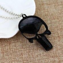 Punisher Skull Zinc Alloy Super Hero Pendant Necklace Fashion Unisex Jewelry